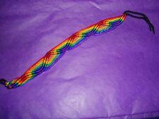 Gay Pride Rainbow Woven Bracelet New