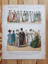 French Costume - c1800 - Fashion History, Original Print, Art, ladies dresses
