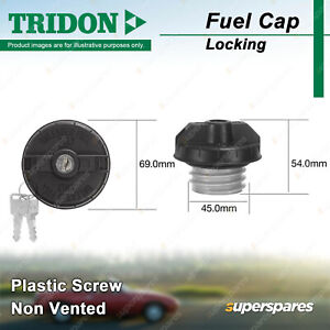 Tridon Locking Fuel Cap for Ford Laser LTD Maverick Meteor Mondeo Probe Telstar