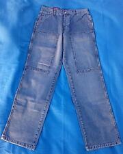 Maingott Jeans Neu W31 L34 Model 01 blau gerades Bein 23cm Arbeiterjeansstil Neu