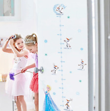 Disney Olaf Elsa Wall Stickers For Kids Room Decor Growth Chart Height Measure