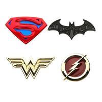 DC Justice League Logos Enamel Collector Pins | Set of 4
