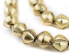 Ethiopian Wired Brass Bicone Beads 15mm African Large Hole 24 Inch Strand
