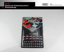 Blechschild Audi Dauerkalender, Audi Tradition Schild, mit zwei Magnetringen