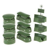 9pcs Army Men Accessories- Toy Soldiers Figures Military Model Bunker Radar