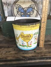 Shedd's Peanut Butter Pal Vintage 5lb Pal Shabby Wire Handle Kitchen