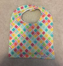 New Baby Bib - Bright Multicolor Weave pattern