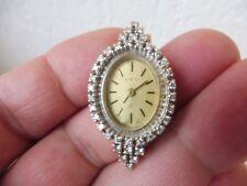 Edle , alte Uhr__Armbanduhr__585 Gold ( Weißgold )__mit 38 Diamanten__ORO__ !