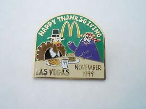 NOS Vintage McDonalds Advertising Enamel Pin #11 - 1999 THANKSGIVING LAS VEGAS