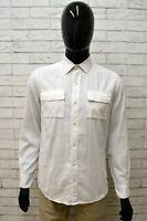 Camicia Uomo AMERICANINO Taglia S Shirt Camiseta Maglia Cotone Bianco Man
