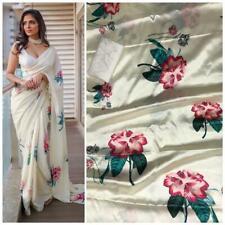 Saree Indian Women Designer Sarees Bollywood Sari Blouse latest party wear dress