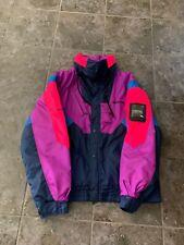 Vintage 90s Nevica Survival 40 Ski Jacket Neon Full Zip RECCO Hong Kong 80s