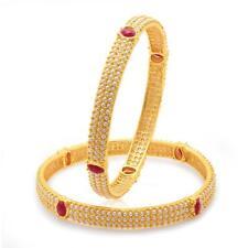 Sukkhi Delightful Gold Plated Moti Bangles for Women(32016BGLDPV900)
