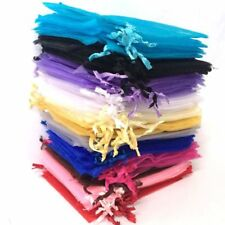 50-1000 Luxury Organza Gift Bags Wedding Favors Party Packing Pouches Wholesale