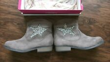 NEW IN BOX  SO BRAND TOAST COLOR SUEDE LOOK HALF BOOT /ZIPPER SIZE 5