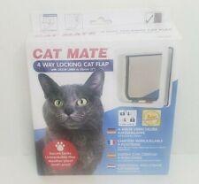 Cat Mate Cat Flap Door White 4 Way Locking Flap