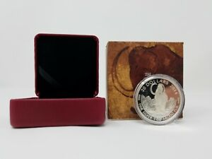 2014  .9999 Silver Proof, Prehistoric Animal Series, Woolly Mammoth, 7500 Minted