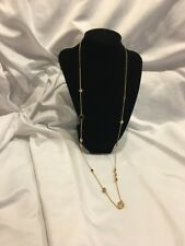 Kate Spade New York Spot The Spade Clear Pink  Gold Necklace Jewelry $68 Long