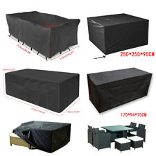 Super Large Garden Rattan Outdoor Furniture Cover Patio Table Protection Black