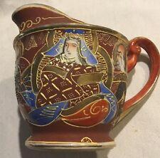 Estate Moriage Occupied Japan Fairyland China Creamer Cream Pot Brown Gold*