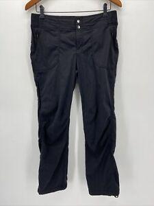Athleta Black Cinch Ankle Zip Pockets Dipper Pants Size 8 Petite