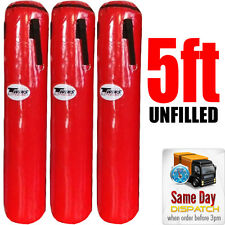 5ft TWINS PUNCHING BAG UNFILLED - boxing kickboxing punch RED