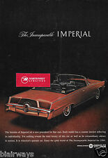 CHRYSLER 1964 IMPERIAL RED CONVERTIBLE CUSTOM INTERIOR INCOMPARABLE AD