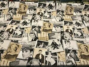 Stars James Dean Marilyn Monroe Cotton Drapery Upholstery Fabric by the yard