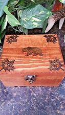 Unique Black Bear Wood,Trinket box, Memory Box, Jewelry Box, Recipe