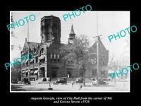 OLD LARGE HISTORIC PHOTO AUGUSTA GEORGIA VIEW OF CITY HALL GREENE ST c1920