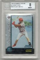 1998 Bowman Chrome International #396 Ruben Mateo PSA BECKETT BGS 8 NM-MT