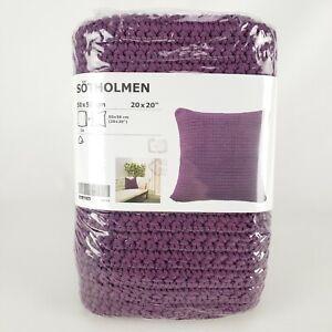 "Ikea Sotholmen Cushion Cover Indoor Outdoor 20x20"" Purple Woven"