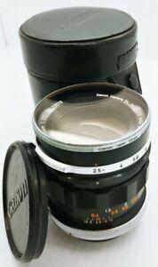 CANON FL F/2.5 35mm manual Lens w/original case