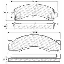 Disc Brake Pad Set Front,Rear Centric 104.05430