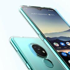 Nokia 7.2 Handy Hülle Silikon Cover Schutzhülle Soft Case Etui transparent klar