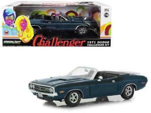 1:18 1971 Dodge Challenger R/T Convertible -- Grey Metallic w/Black Stripes -- G