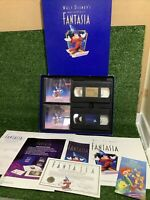 Walt Disney's Masterpiece FANTASIA DELUXE LIMITED COMMEMORATIVE EDITION CD VHS
