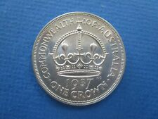 1937  About UNC   Australian George VI 92.5% Silver Crown
