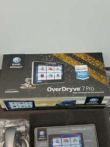 """RAND McNALLY OverDryve 7 PRO LM 7"""" Truck GPS TABLET w/DashCam & Bluetooth READ"""