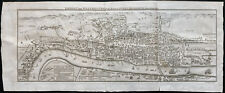 1791 - Grand Plan de Londres, Rare ! Antique London Map, Engraving