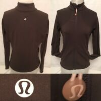Lululemon Brown Size 8 Run Jacket Forme Fitted Full Zip Pockets Woman Jacket