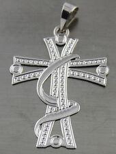 Real 14 K white Gold Cross Pendant US seller 0,5 gram