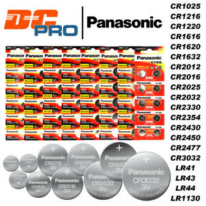 Genuine Panasonic CR2032 CR2050 CR2450 CR1616 CR1620 CR1632 CR2016 Battery