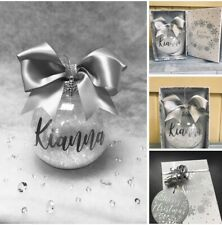 Personalised Christmas Bow Bauble