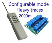 12CH Wireless Remote Control System/Configurable output mode, Heavy traces 2000m