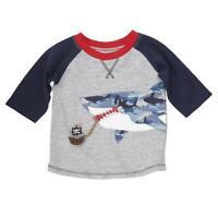 Mud Pie Shark Tank Collection Camo Applique Boys T-Shirt Shirt Top