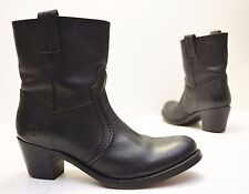 Frye 'Jane Trapunto' Soft Black Pebbled Leather Bootie Size 9 B (Retail $298)