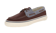 Sperry Top-Sider 5112 Men's Bahama Brown Navy Boat Shoes Sz 11.5 M