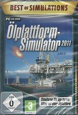 PC CD-ROM + Ölplattform Simulator 2011 + Schwarzes Gold + Schiffe + Kräne +Win 7