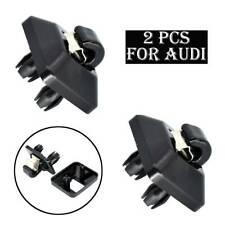 Black 2pcs For Audi A3 A4 A5 Q2 Q3 Q5 TT RS3 RS4 Sun Visor Clip Holder